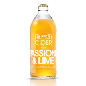 Smirnoff Cider with Passionfruit and Lime