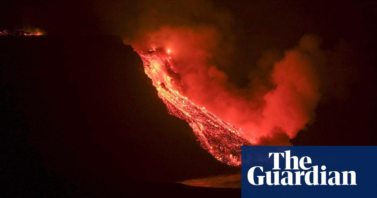 Canary Islands volcano lava reaches ocean, raising fears of toxic gas