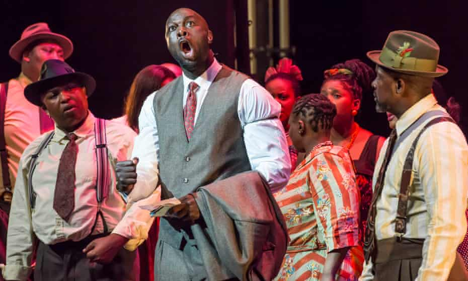 Peace Nzirawa, centre, as Mandela 2 in Cape Town Opera's Mandela Trilogy.
