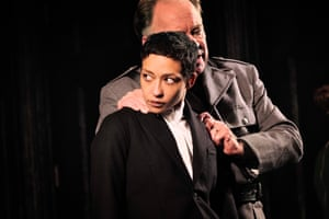 Ruth Negga as Hamlet directed by Yaël Farber at Dublin theatre festival in 2018, with Owen Roe as Claudius. 'Everything about this production feels freshly imagined,' wrote Michael Billington