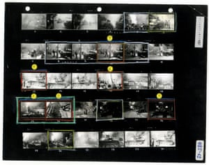 Josef Koudelka's contact sheet from the Prague invasion, August 1968