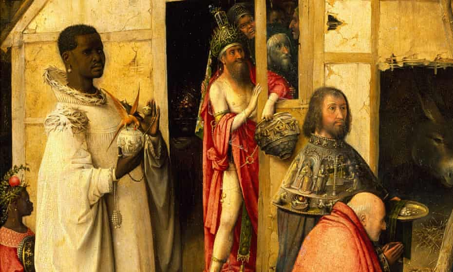 Fantastical splendour … Balthasar in a detail from The Adoration of the Magi, 1510, by Hieronymus Bosch.