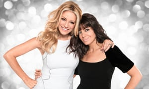 Brand praises the Strictly Come Dancing hosts Tess Daly, left, and Claudia Winkleman.