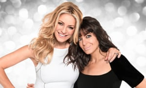 Strictly Come Dancing's Tess Daly (L) and Claudia Winkleman