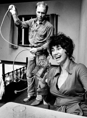 Ed Harris and Kathy Baker in Magic Theatre's production of Fool for Love in 1983.