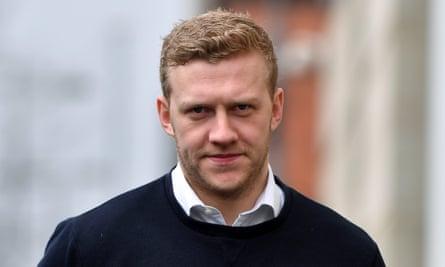 Stuart Olding arrives at court in Belfast, March 2018