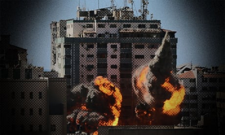 Countdown to the airstrike: the moment Israeli forces hit al-Jalaa tower, Gaza