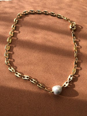 Full of beans Mamater makes ethical jewellery finished by hand from biodegradable organic materials and ethically sourced metals. The Elaheh necklace is their first gold chain, with links in the shape of toasted coffee beans from the Ethiopian highlands.  £90, mamater.com