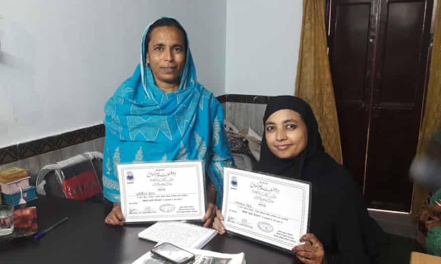 India's first women Islamic judges : Afroz Begum (left) and Jahanara
