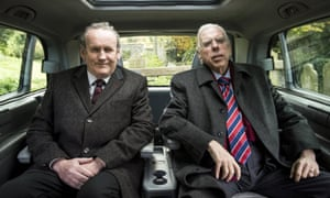 Colm Meaney and Timothy Spall in The Journey