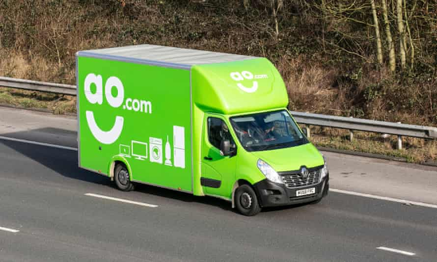 An AO.com delivery truck