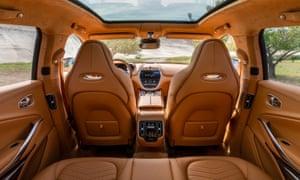 Interior shot of the Aston Martin DBX, its first SUV.
