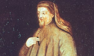 portrait of Geoffrey Chaucer by unknown painter (oil on panel.