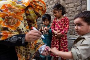 Pakistani polio vaccinators in Rawalpindi