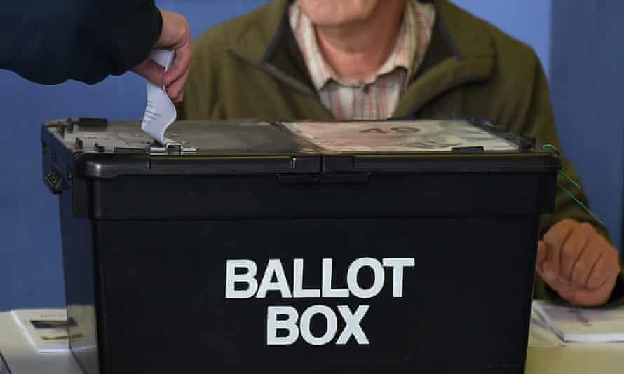 Ballot box at a polling station