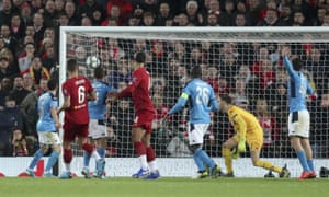 Dejan Lovren's header flies into the corner of the net to level the score