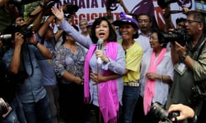 Philippines chief justice Maria Lourdes Sereno was ousted from office in May