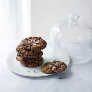 Mim's vegan chocolate and sea salt cookies.