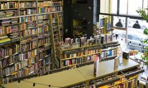 Interior of Podpisnie Izdaniya bookshop, St Petersburg