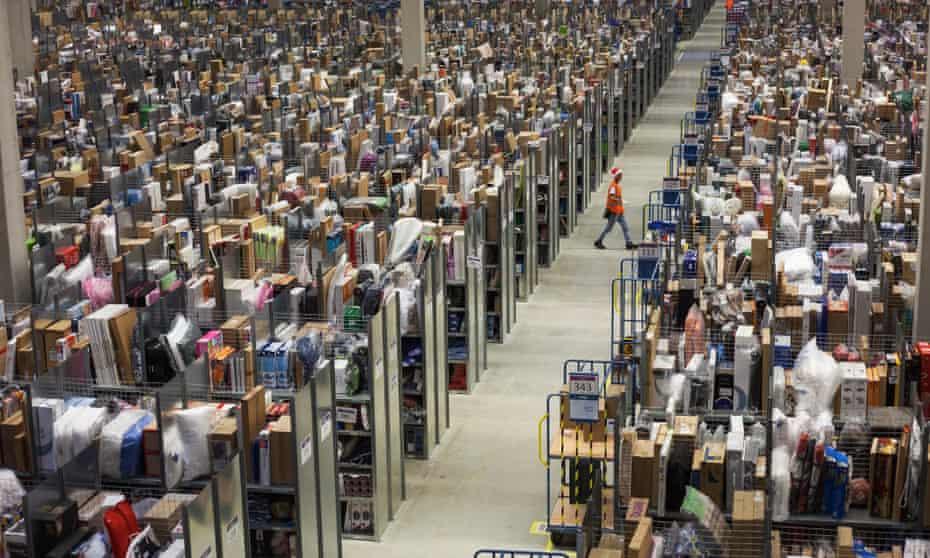 Amazon's logistics centre in Pforzheim, Germany.