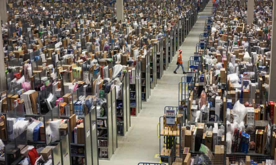 'Warehouse workers find themselves directed along exact routes in the name of efficiency.'