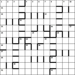 Azed 2453 grid