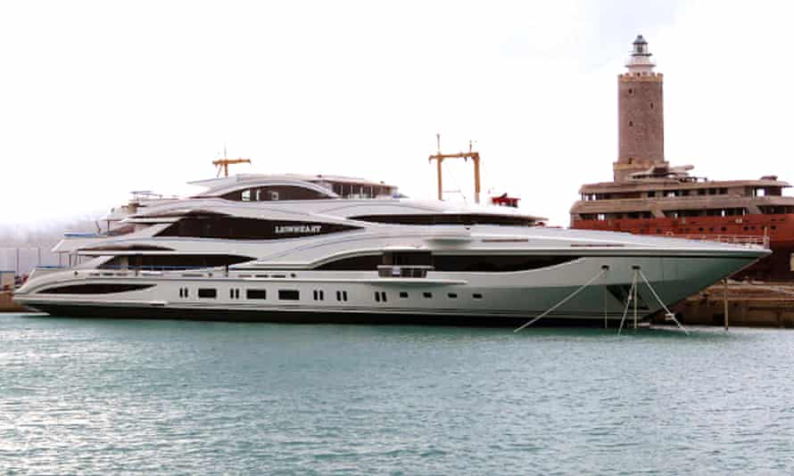Philip Green's yacht, the Lionheart