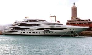 Philip Green's yacht Lionheart.