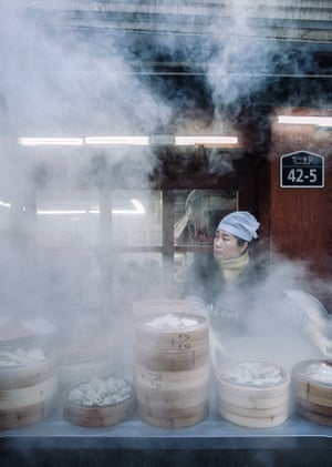 Full steam ahead. In a side alley of the Insadong neighbourhood of Seoul – which has a much more traditional feel than other parts of the city – I snapped this vendor peeking through the steam of her cooking, looking for customers.