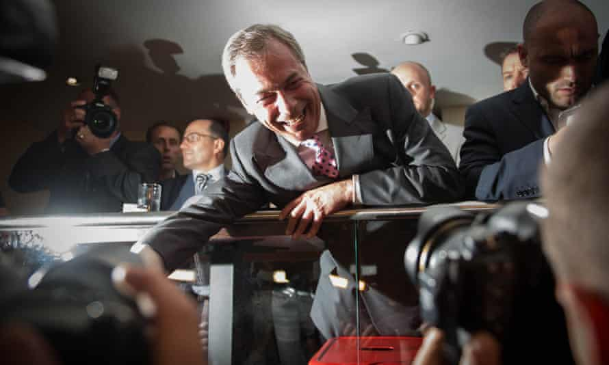 Nigel Farage at the Leave.EU party