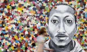 A mural in New York for Kalief Browder, who killed himself after three years in jail where he was subjected to solitary confinement.