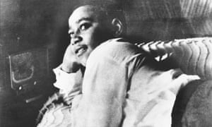 Emmett Till, the murdered boy on whom the painting is based.
