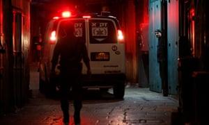 Scene of attack in Jerusalem