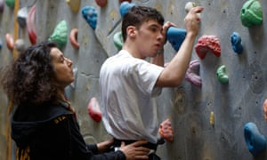 Climbing promotes hand-to-eye coordination, physical strength, communication and sensory awareness