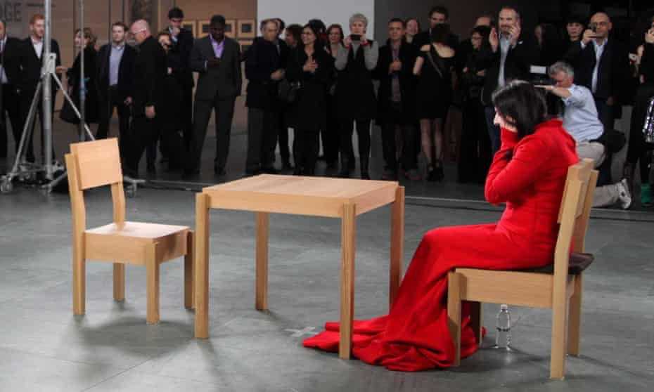 Marina Abramovic at her exhibition The Artist is Present, MoMA, New York, 2010.