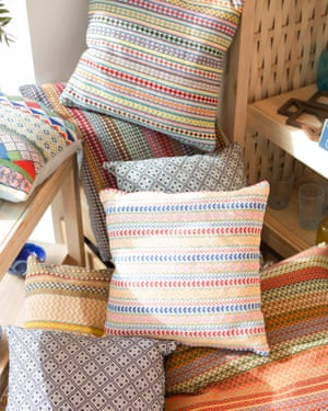'The situation here is worse than Afghanistan': cushions made from Malian textiles.