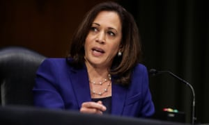 Kamala Harris speaks during a senate judiciary committee hearing in Washington DC in June.