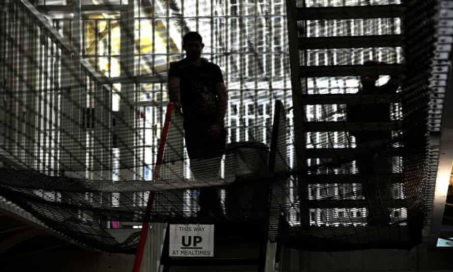 An inmate inside Pentonville prison, London.