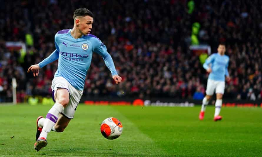 Phil Foden suffered from being positioned on the wing against United.