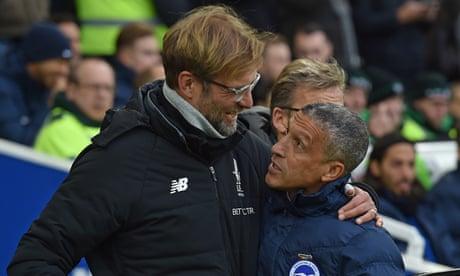 Jürgen Klopp apologises for upsetting Chris Hughton after Brighton match