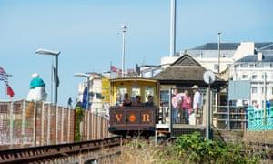 The Volks Railway on Brighton seafront.