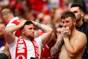 Nervous times for fans during the Play off Final.