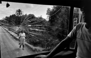 El Salvador. 1983. Road to Aguilares.