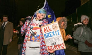 Some interesting signs at the pro- and anti-Brexit protests tonight.