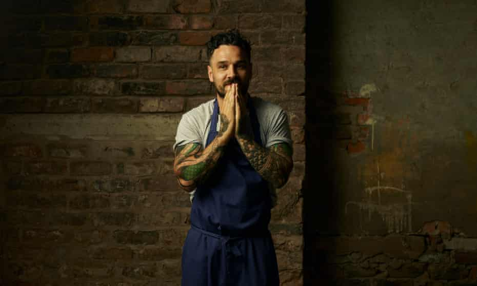Gary Usher on the site of his next restaurant, Wreckfish in Liverpool.