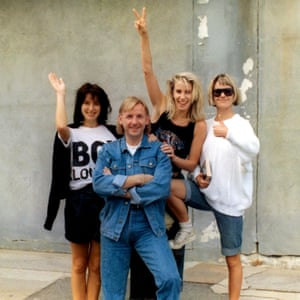 Bananarama in the US with Pete Waterman