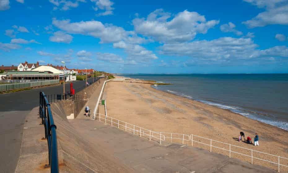 The Empty beach on a sunny day