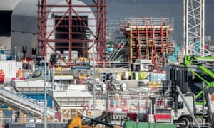 Construction work at the site of the Hinkley Point C nuclear power station