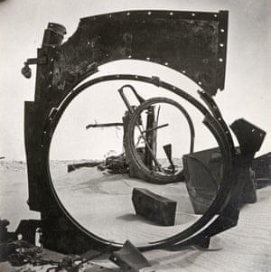 Desert Debris, Sidi Rezegh, Libya, 1942 Here, he also found a geometric beauty in ruined tanks in the Libyan desert
