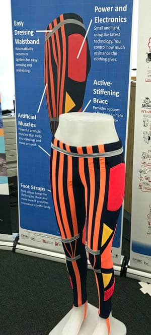 A mock-up of the 'right trousers' at the British Science Festival.